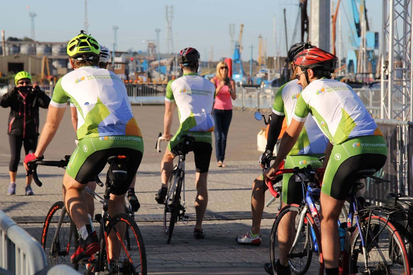 Riders starting