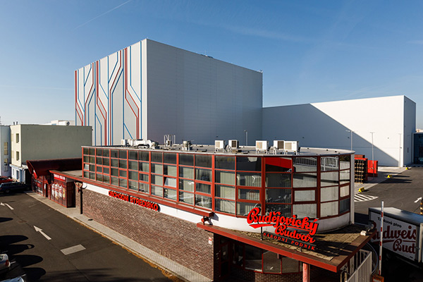 A ceremonial opening of Budweiser Budvar's new logistics centre took place today