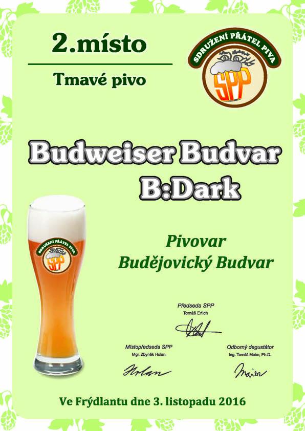 Diplom Budweiser Budvar B:DARK