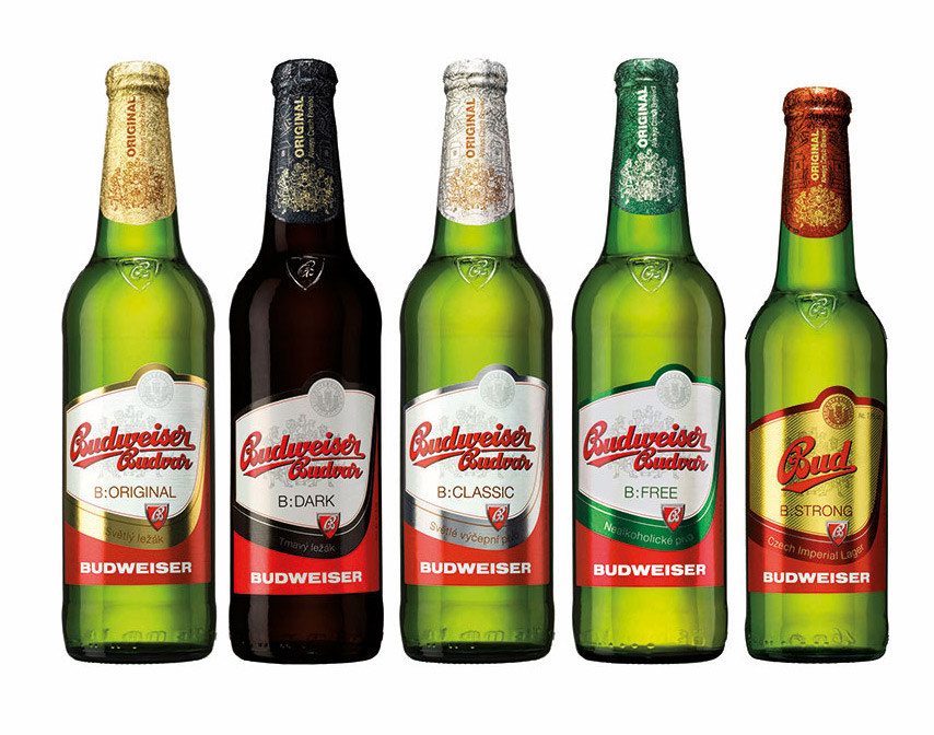 Redesign obalů značky Budweiser Budvar