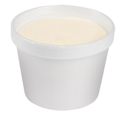 large cup of vanilla ice cream nursing unit pantry