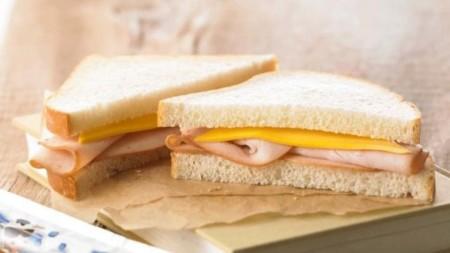 turkey sandwiches on wooden table nursing unit pantry