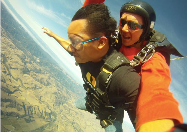 david sasda skydiving