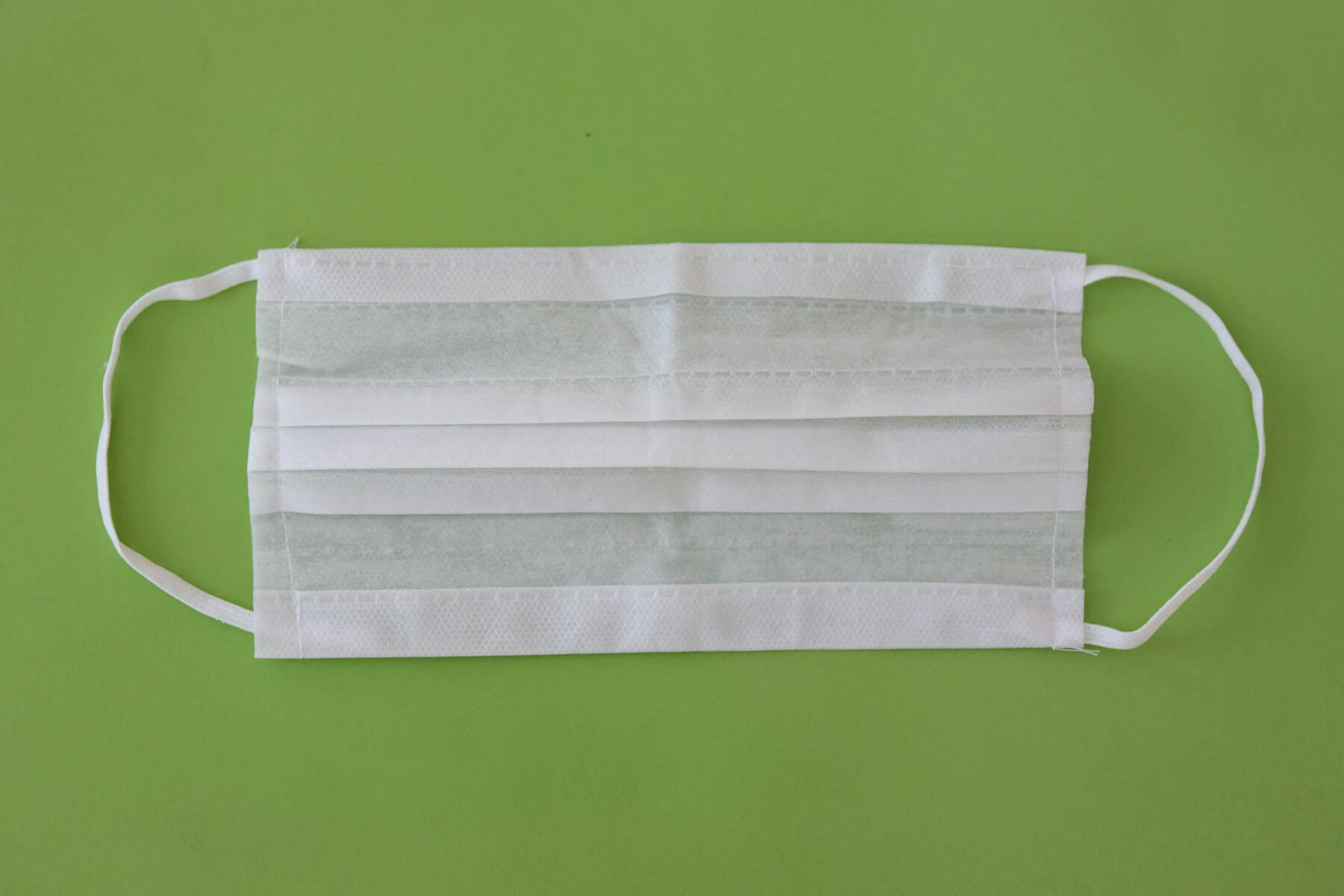 surgical mask procedural mask on green background covid19 how to help