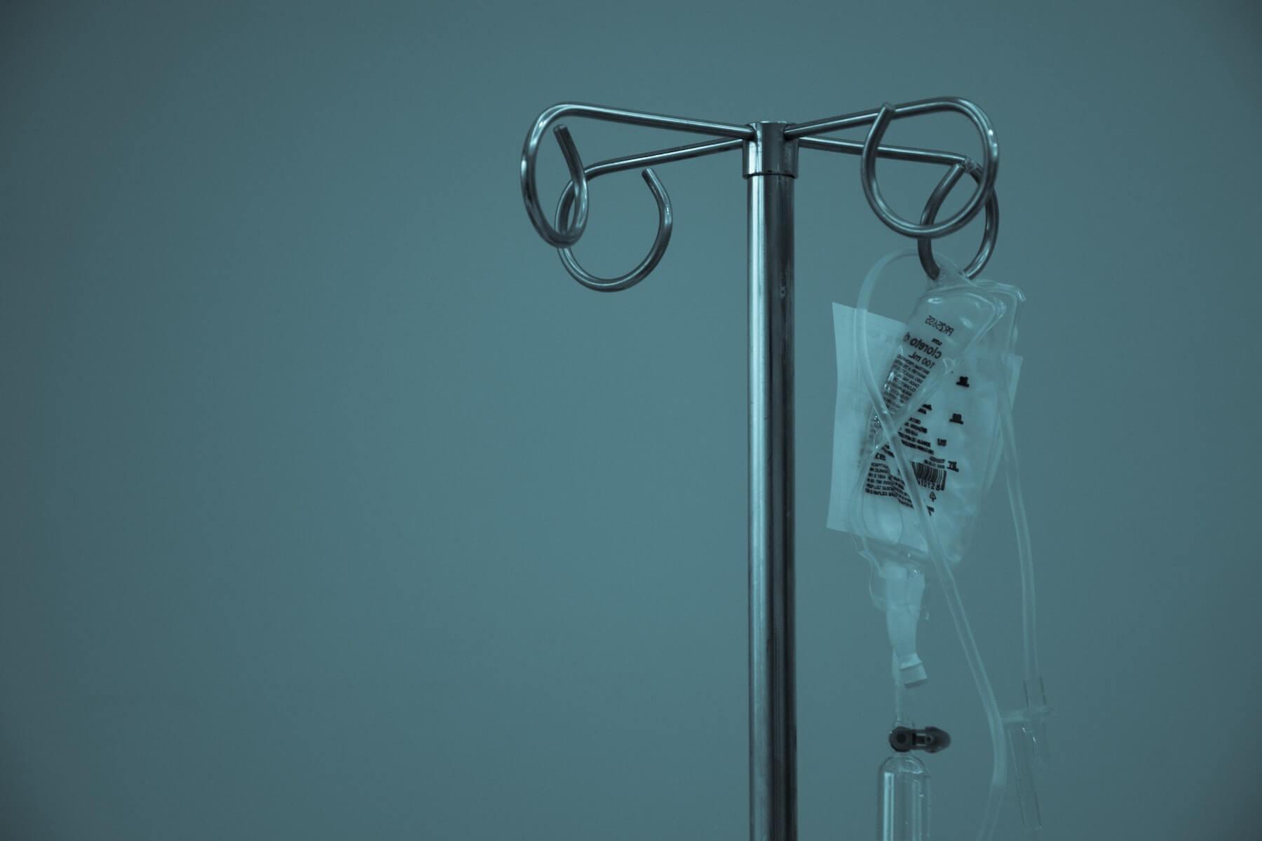 iv drop hanging on rack critical care nursing