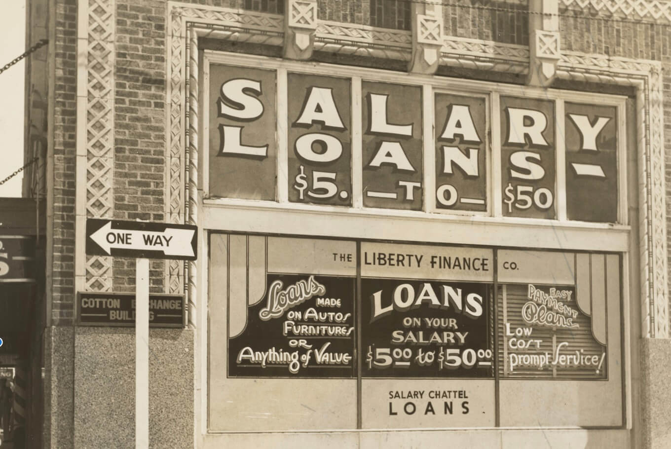 vintage photo of city storefront salary loans how to get a loan as a travel nurse