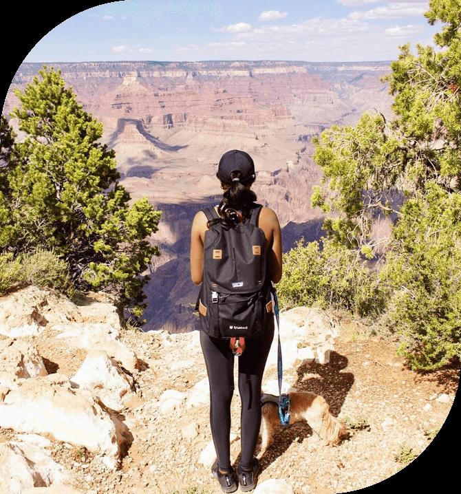 Travel nurse in the desert
