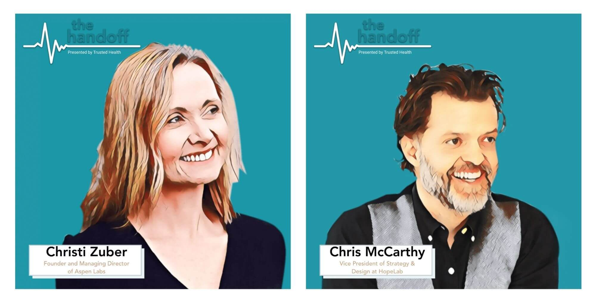 christi zuber founder of aspen labs chris mccarthy VP of strategy and design at hopelab trusted health the handoff podcast