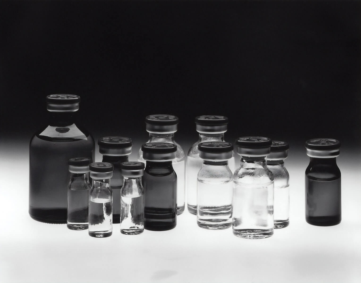 vaccines on table display