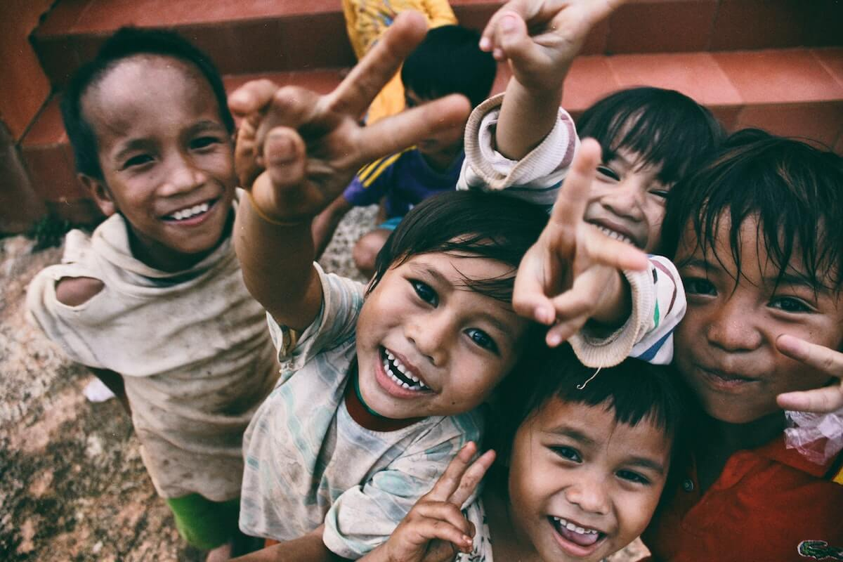 foreign children laughing in photo nursing volunteer opportunities