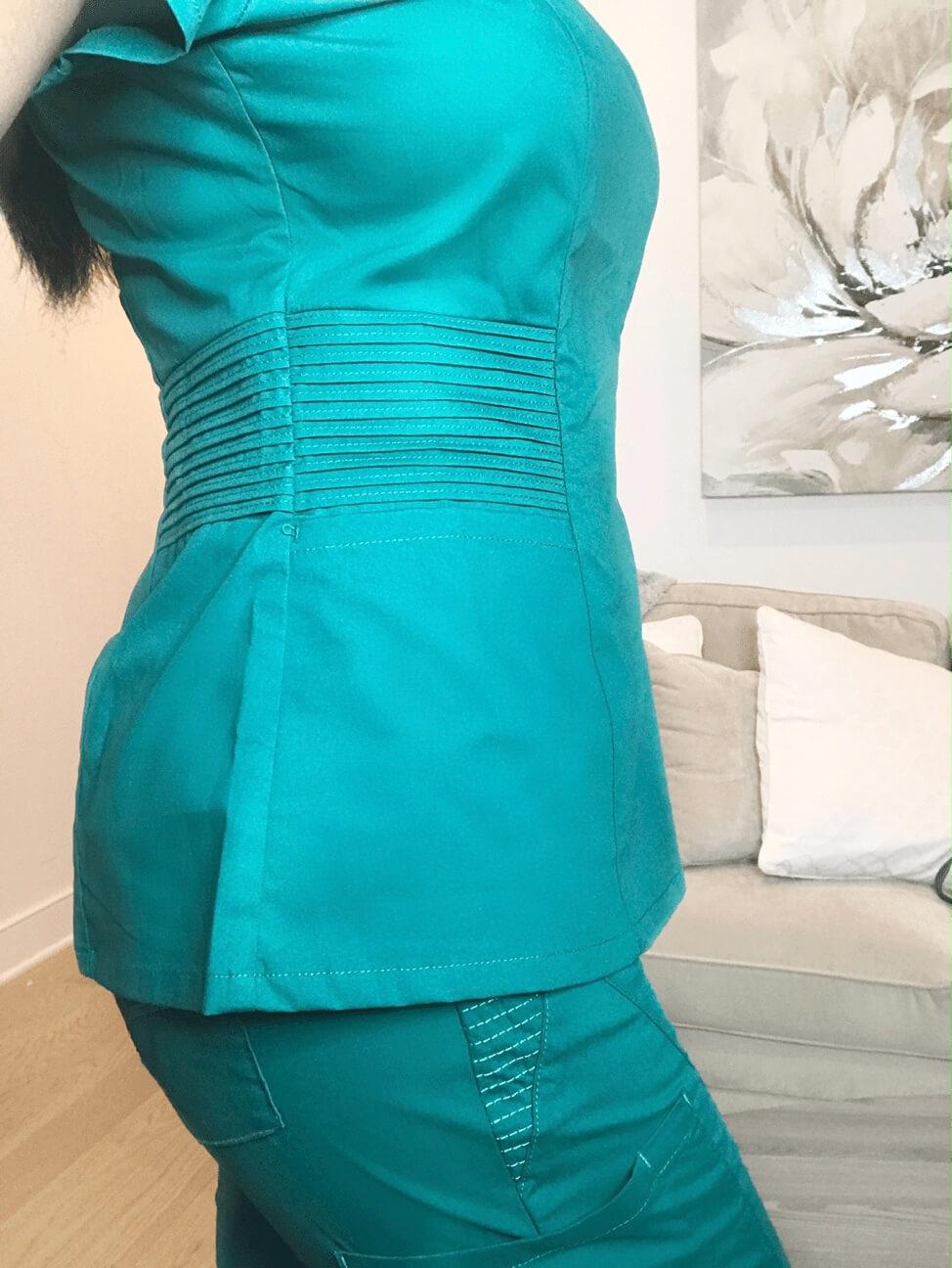 jaanuu nursing scrubs review 1 grey side view
