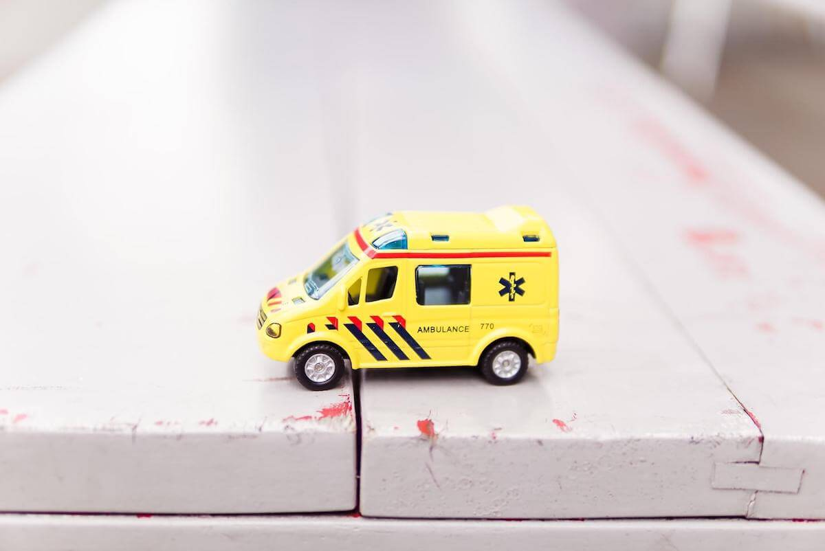ambulance toy car on table pediatric er nurse