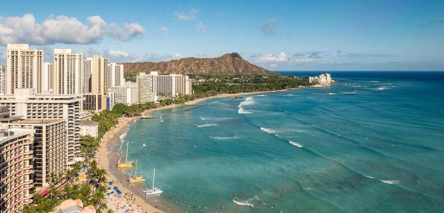 cityscape beachscape of honolulu hawaii travel nursing in honolulu