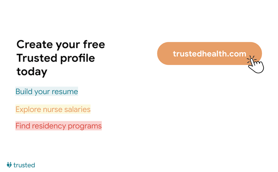 trusted health profile sign up
