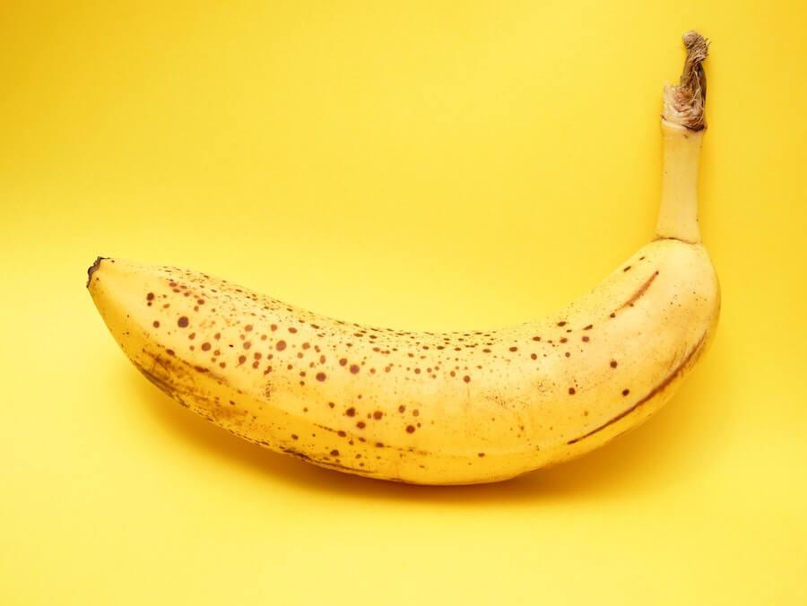 banana bag nursing photo of banana of yellow background