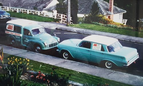 JAE Carpet Cleaning Vehicles from 50 years ago