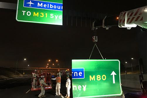 Installing permanent signage