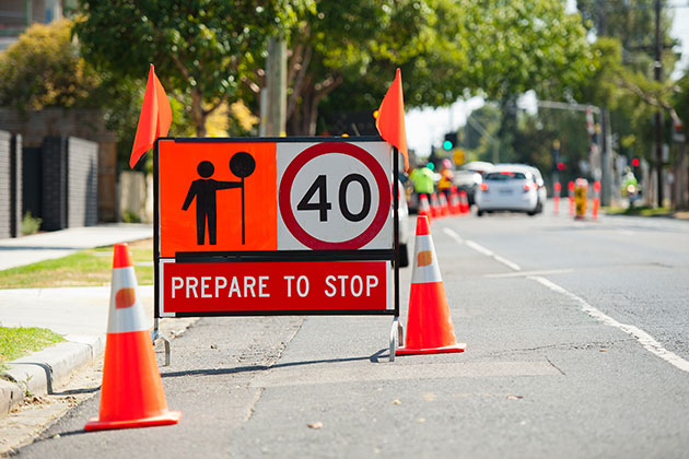 Prepare to stop road construction safety products