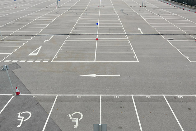 Car park linemarking