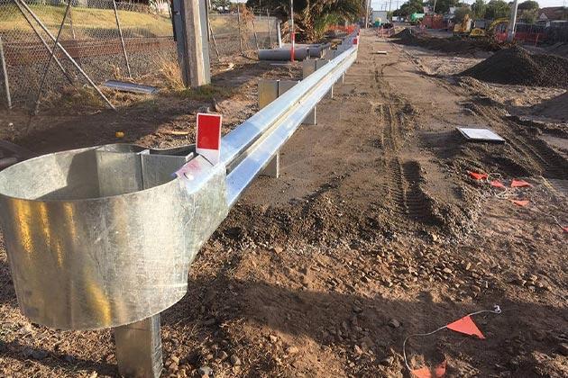 Car park guardrails