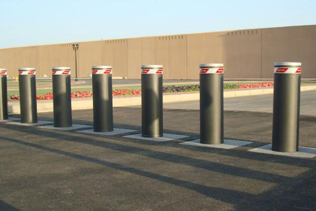 Energy absorbing bollards in Melbourne