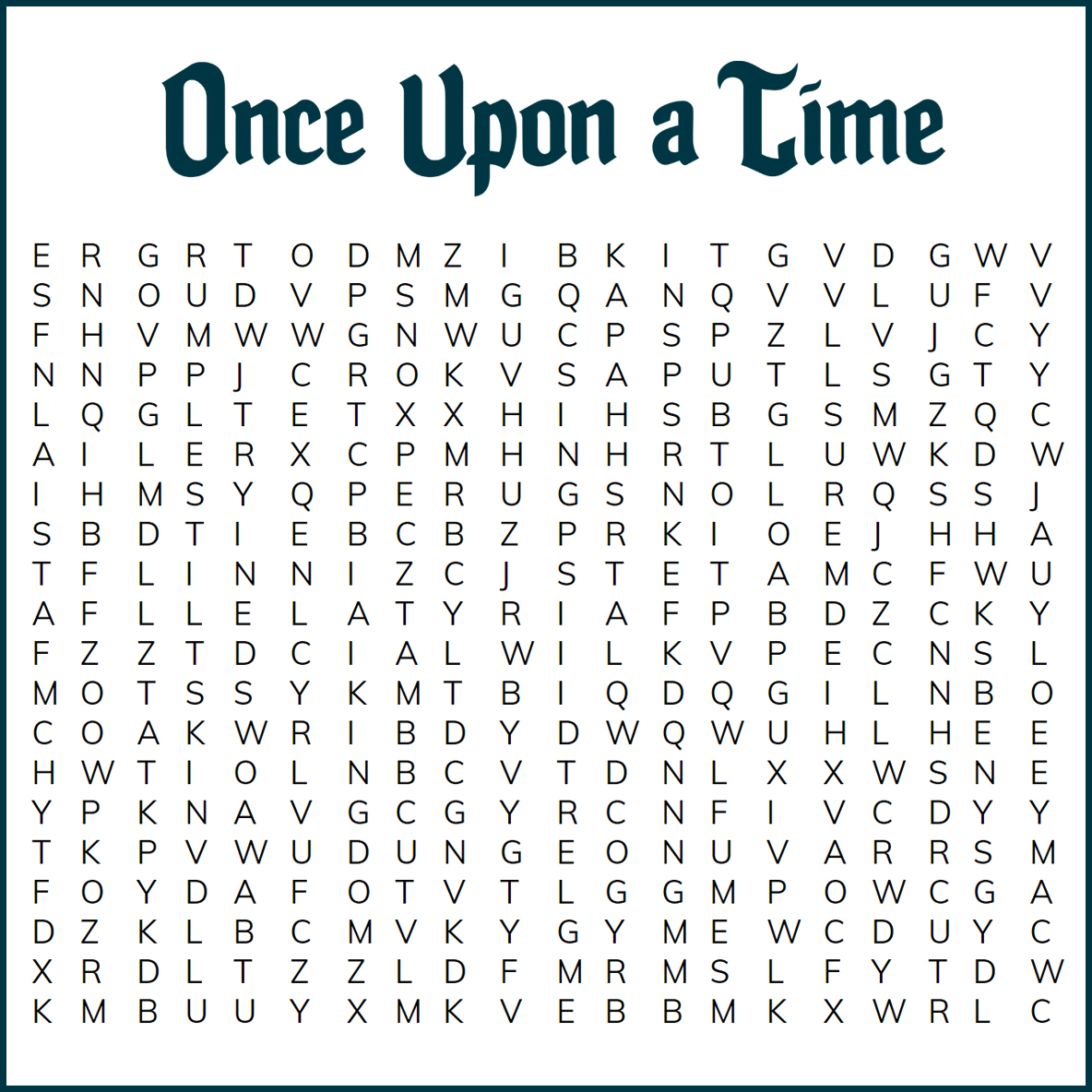 Once Upon A Time Escape Room