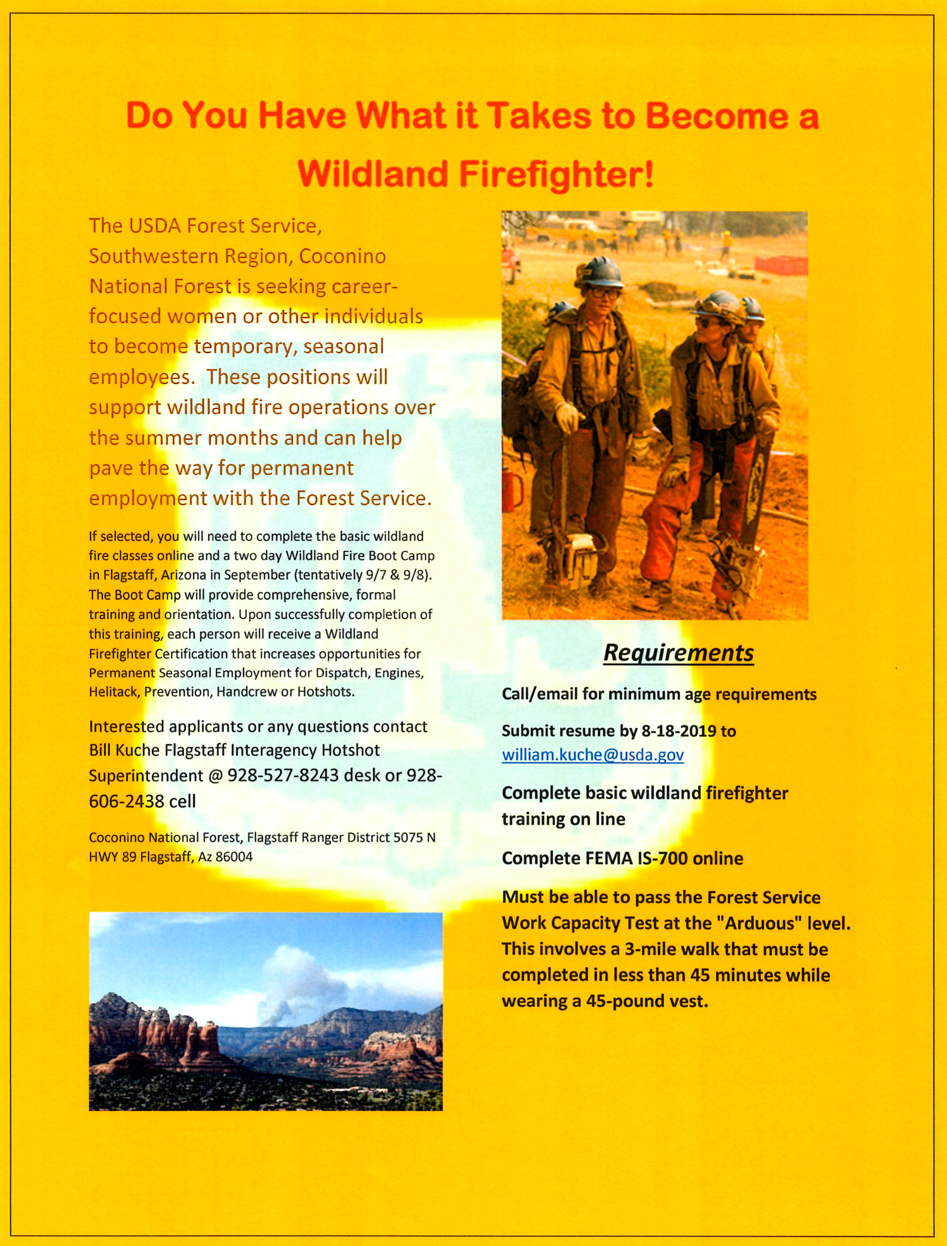 Do you have what it takes to become a wildland fire fighter