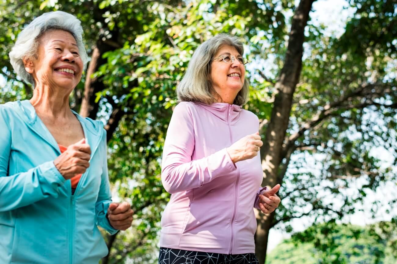 Senior Friends Exercising Outdoors Trailer Homes For Sale Houston