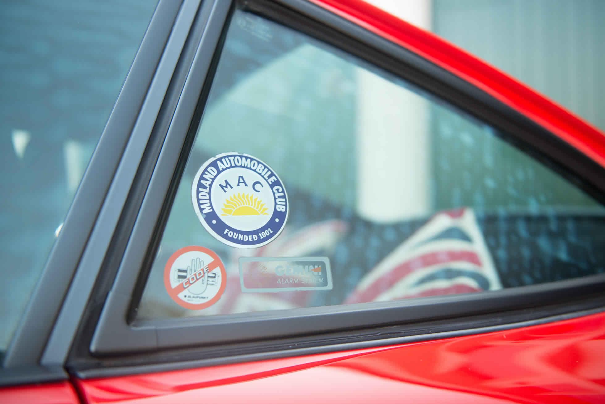For Sale 1989 Porsche 3.2 Carrera Club Sport window