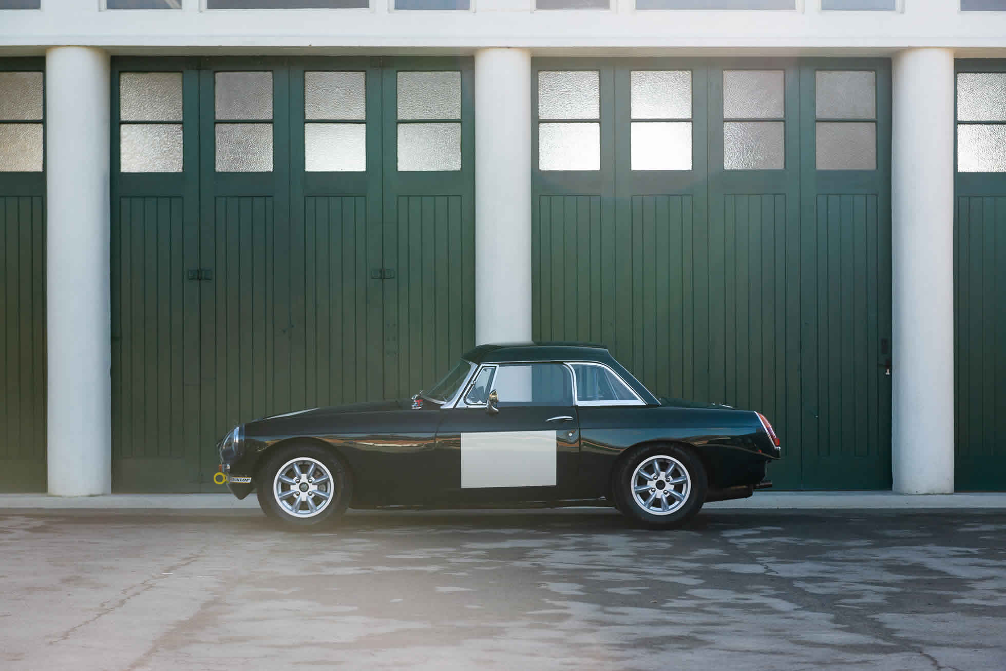 For Sale 1964 MGB Roadster FIA Race Car side view