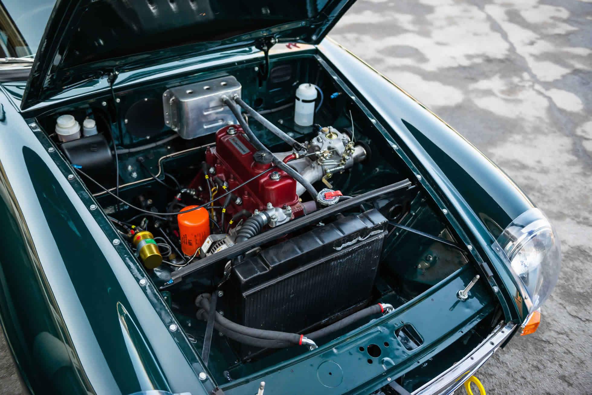 For Sale 1964 MGB Roadster FIA Race Car engine