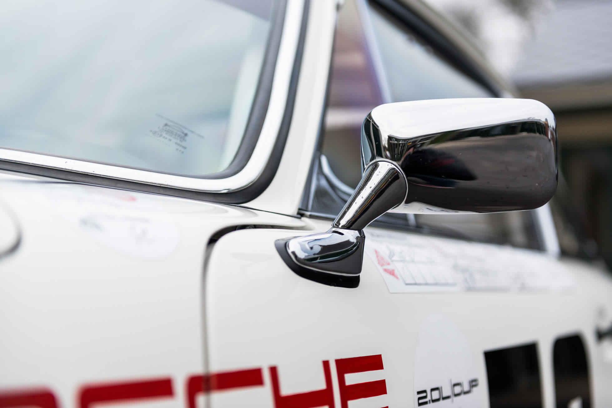 For Sale 1965 Porsche 911 2.0 SWB Race Car rear wing mirror
