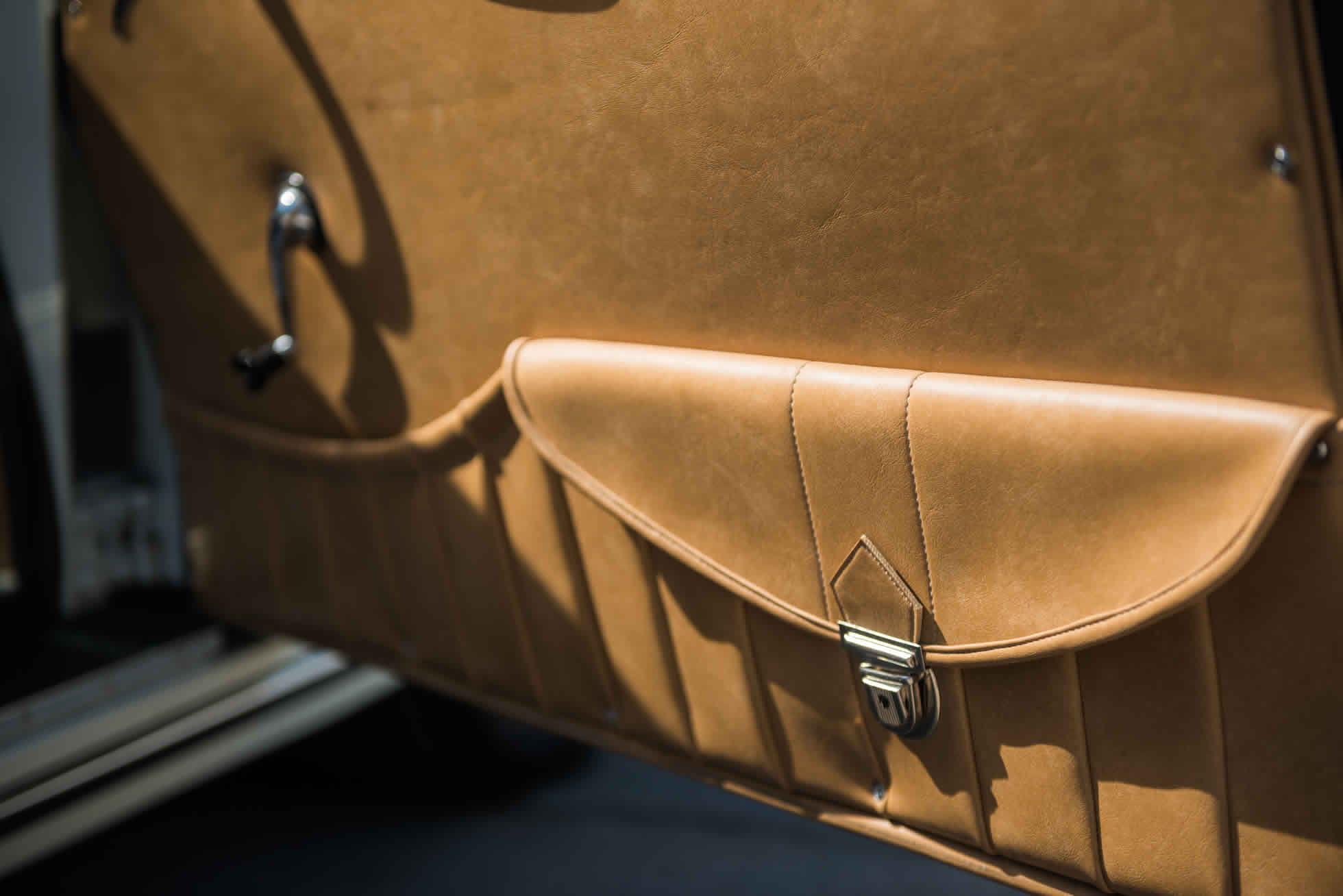 For Sale 1961 Porsche 356B S90 Roadster internal door details