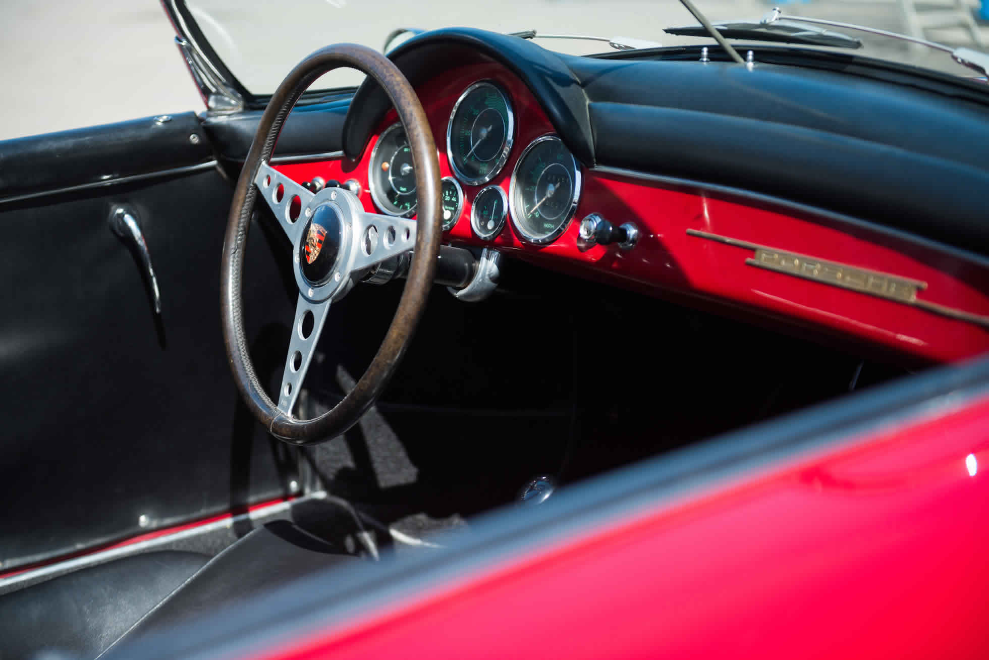 For Sale 1958 Porsche 356 Speedster steering wheel