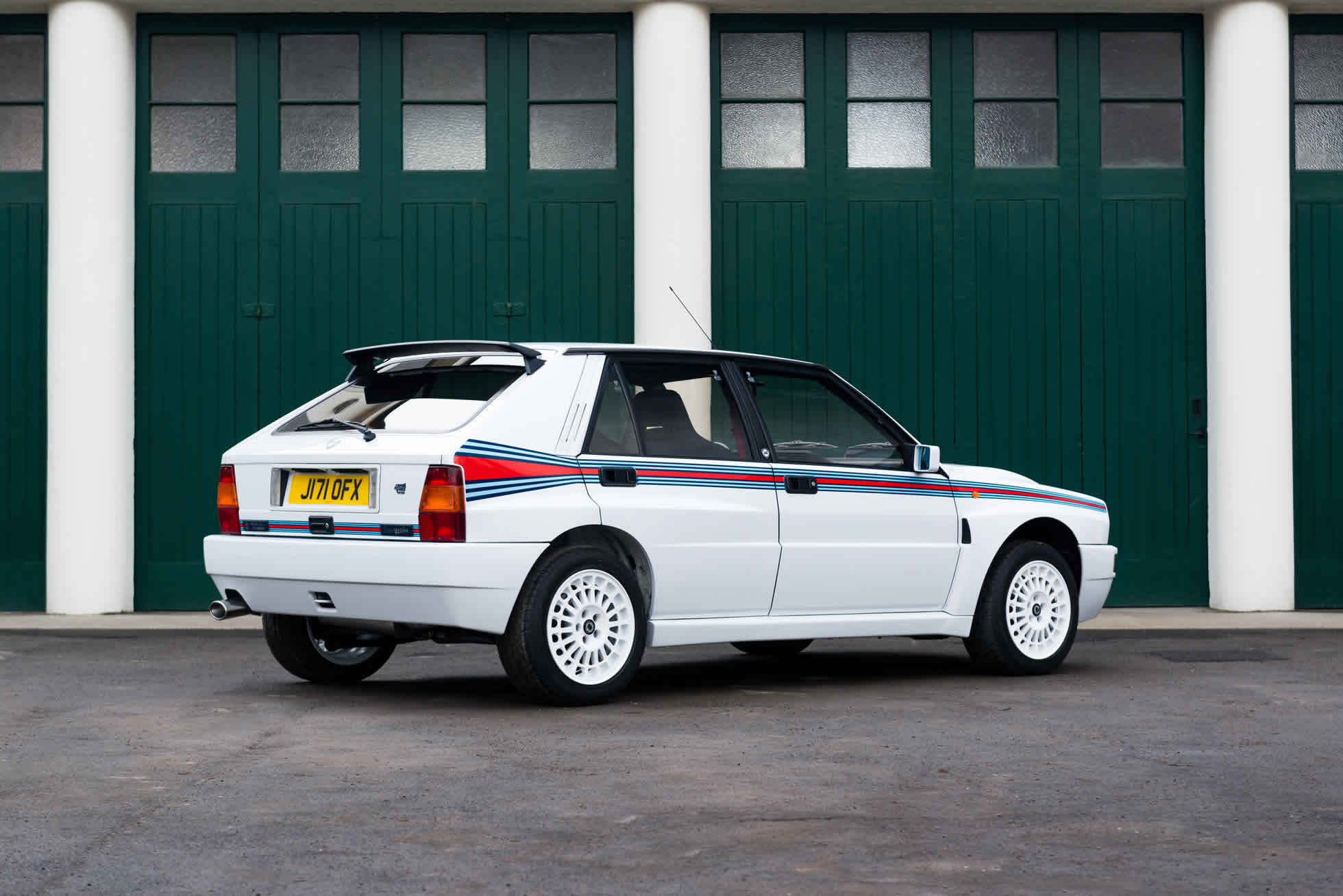 For Sale 1992 Lacia Delta Integrale EVO 'Martini 5' rear view