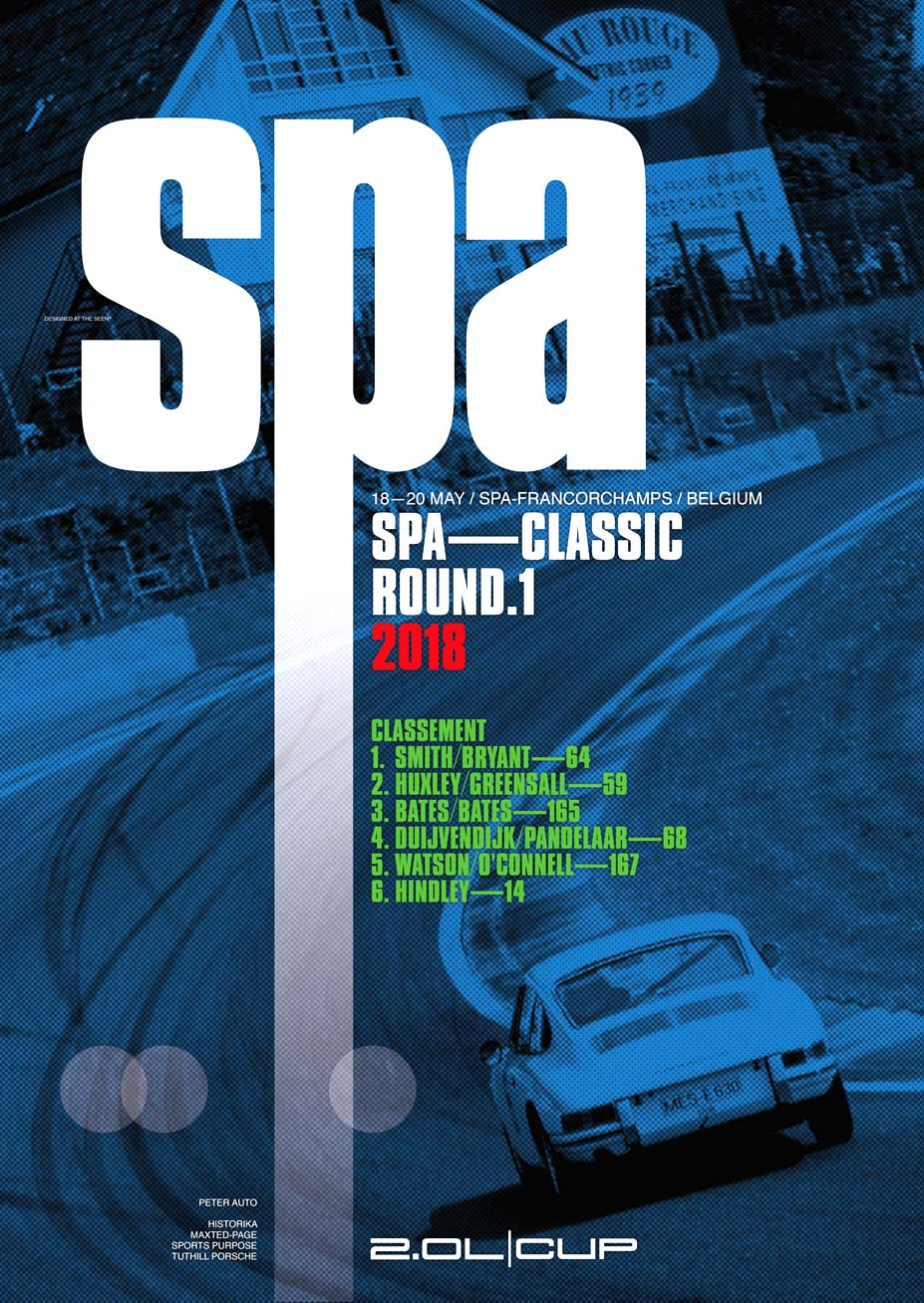 2018 2-Litre Cup Round 1 Spa Poster