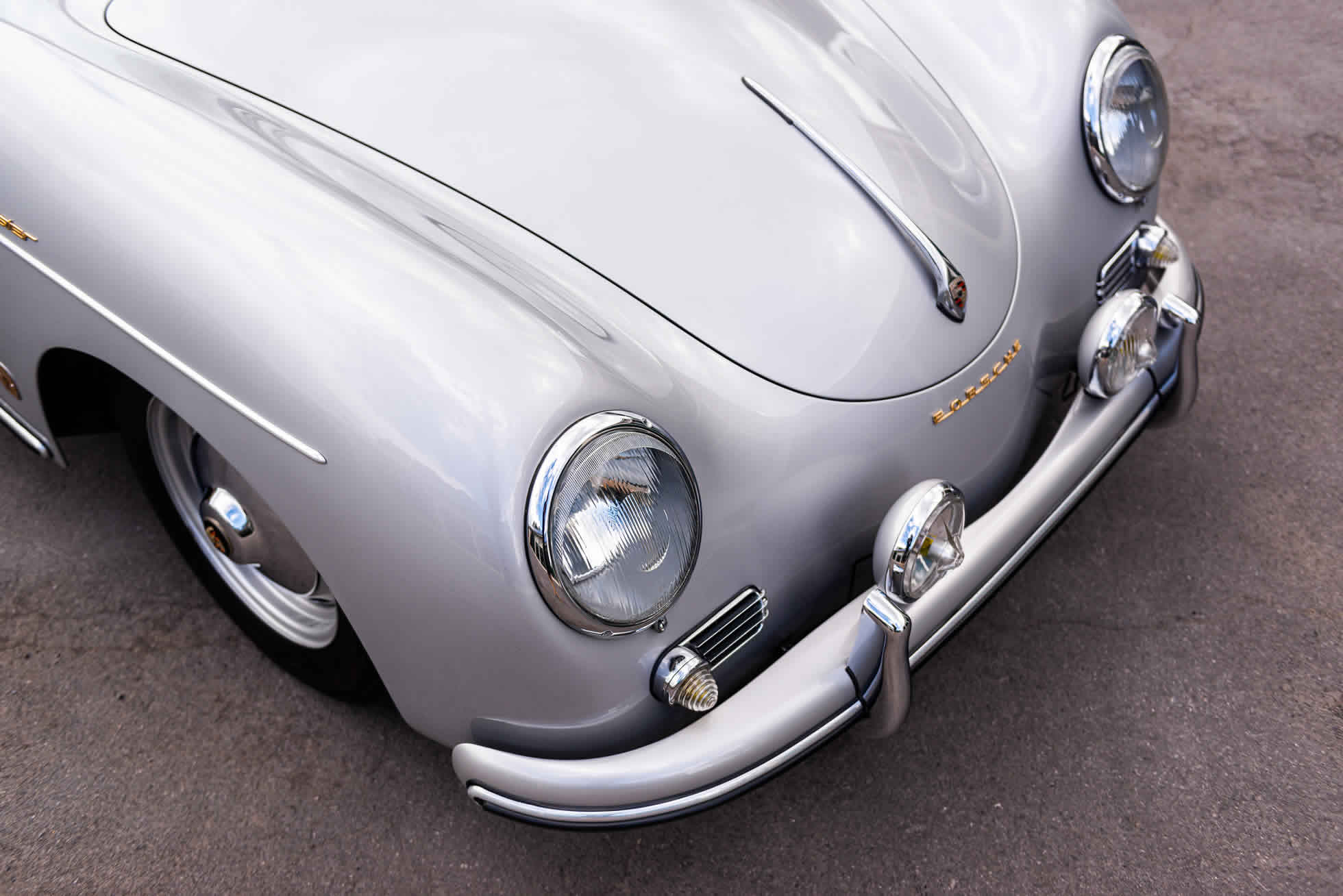 For Sale 1958 Porsche 356A Speedster restored by John Willhoit Sports Purpose Bicester Heritage Oxfordshire front