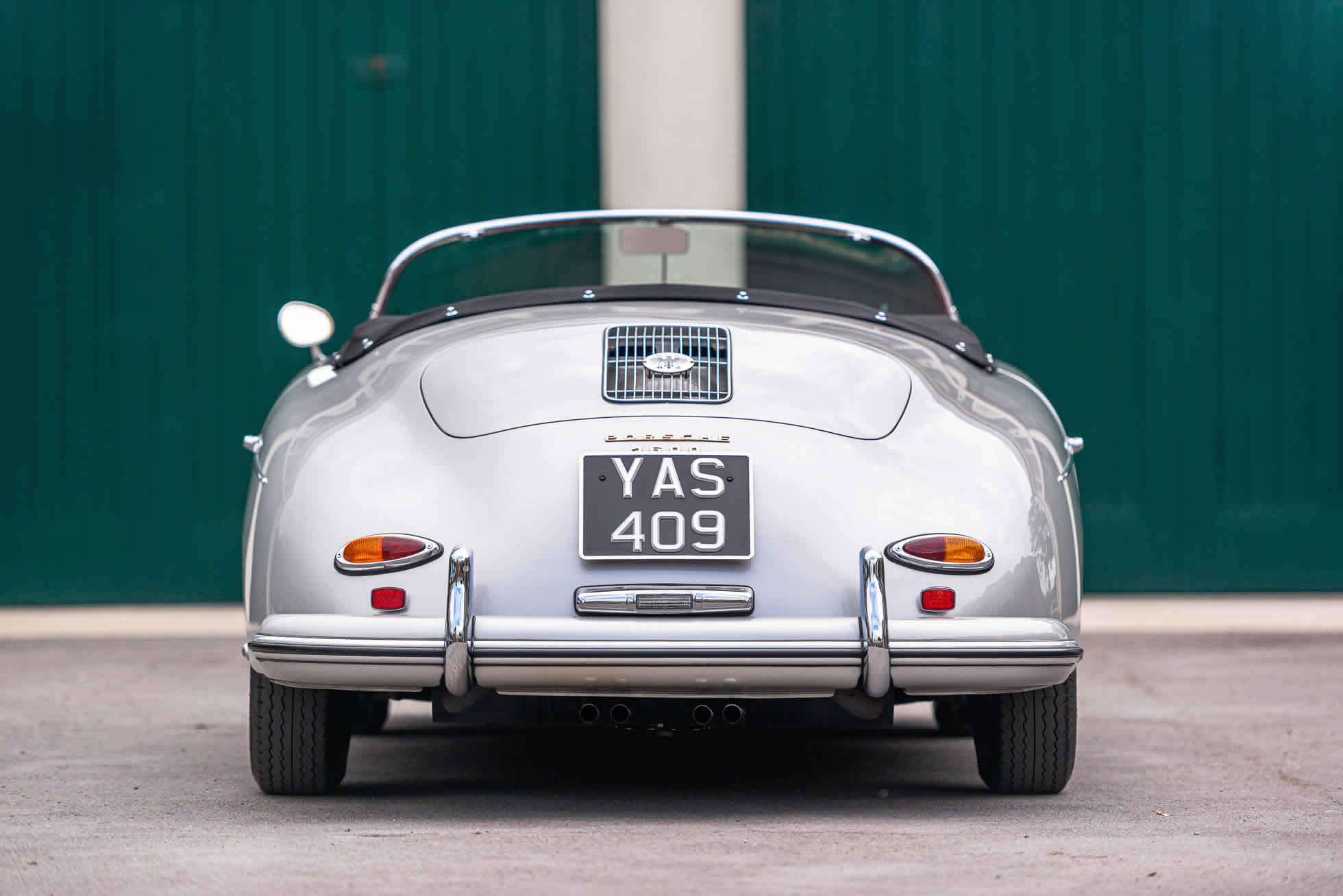 For Sale 1958 Porsche 356A Speedster restored by John Willhoit Sports Purpose Bicester Heritage Oxfordshire rear view