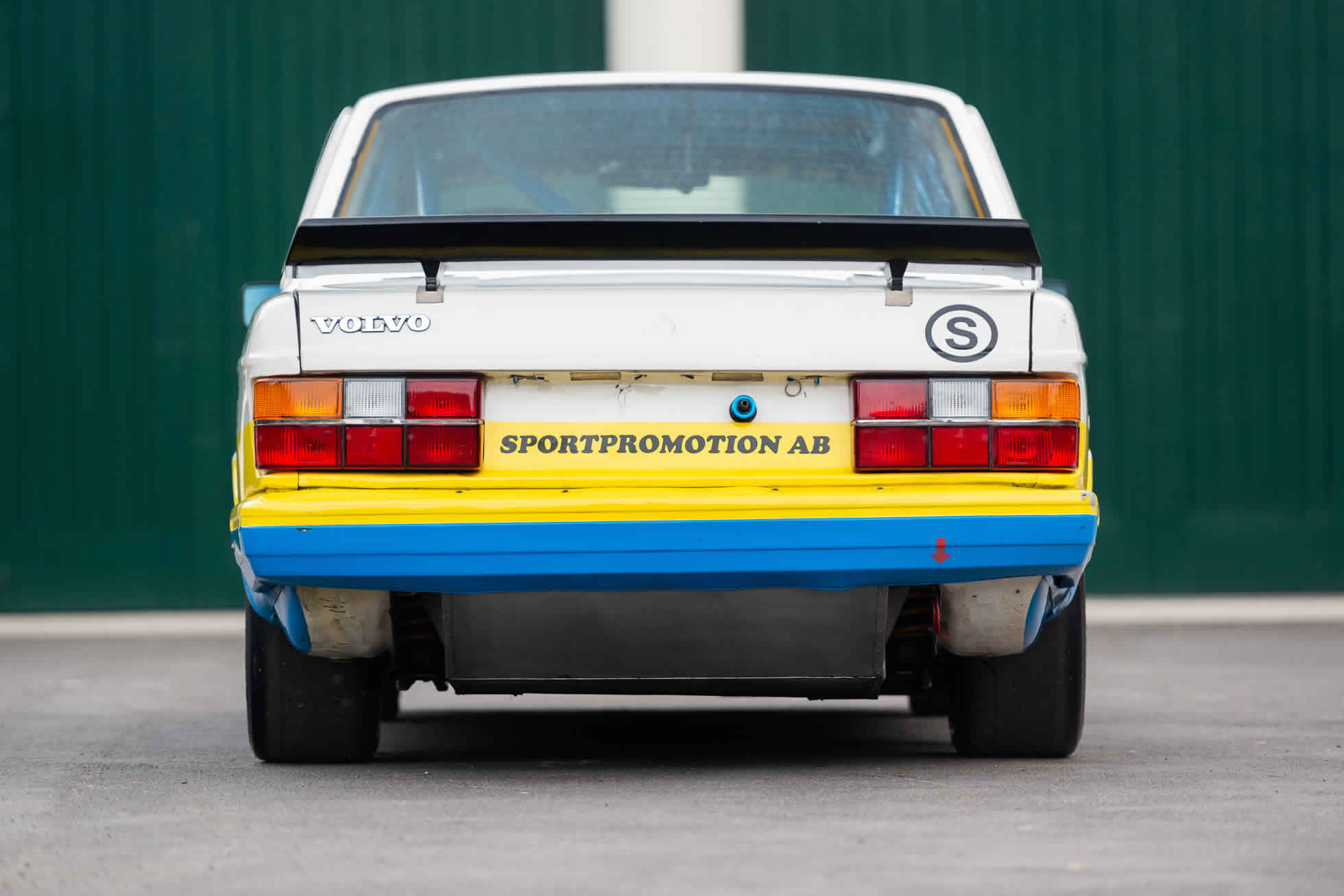 Rear view For Sale 1984 Volvo 240 Turbo Group A, Sports Purpose Bicester Heritage,