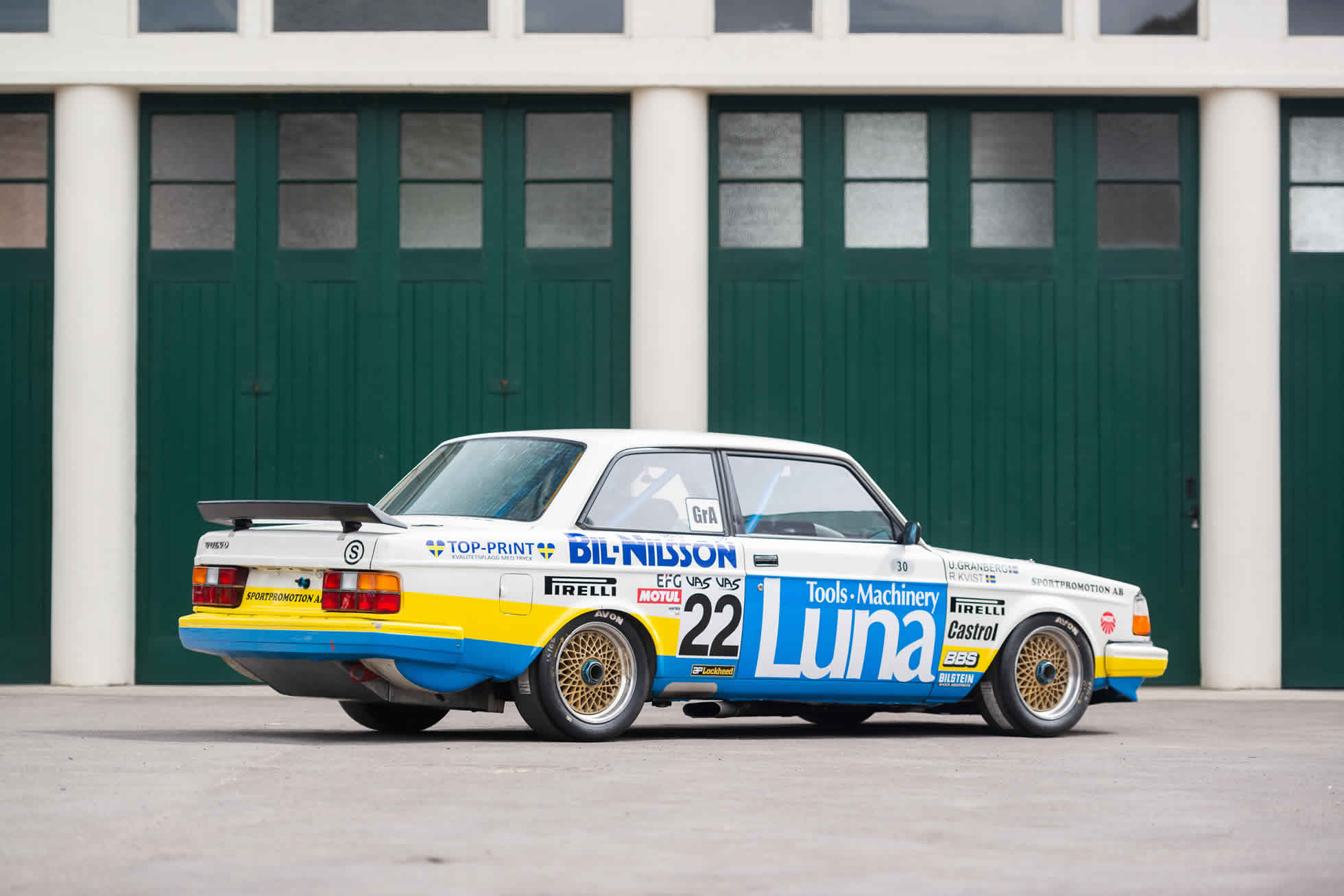 Rear quarter For Sale 1984 Volvo 240 Turbo Group A, Sports Purpose Bicester Heritage,