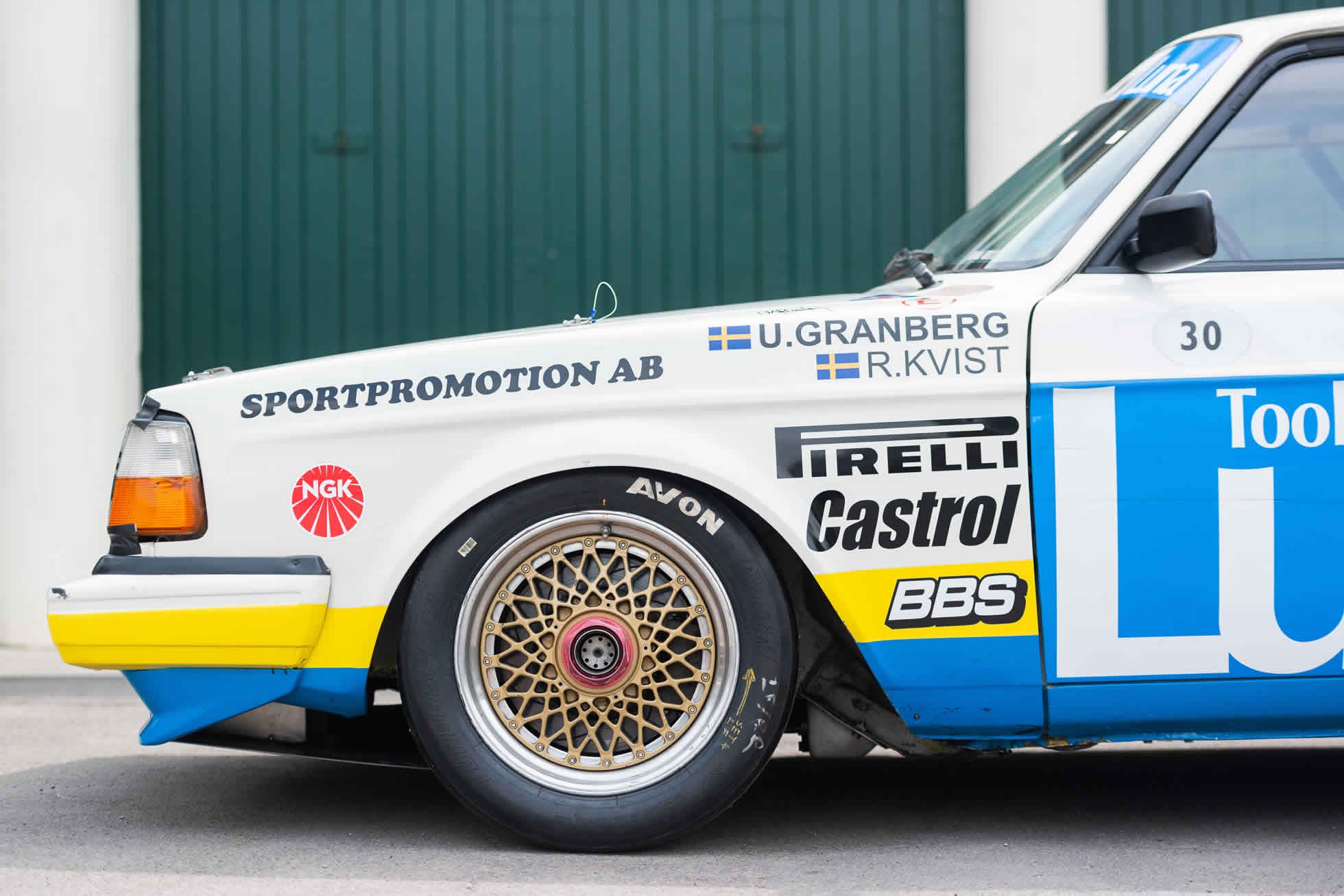 Front side For Sale 1984 Volvo 240 Turbo Group A, Sports Purpose Bicester Heritage,