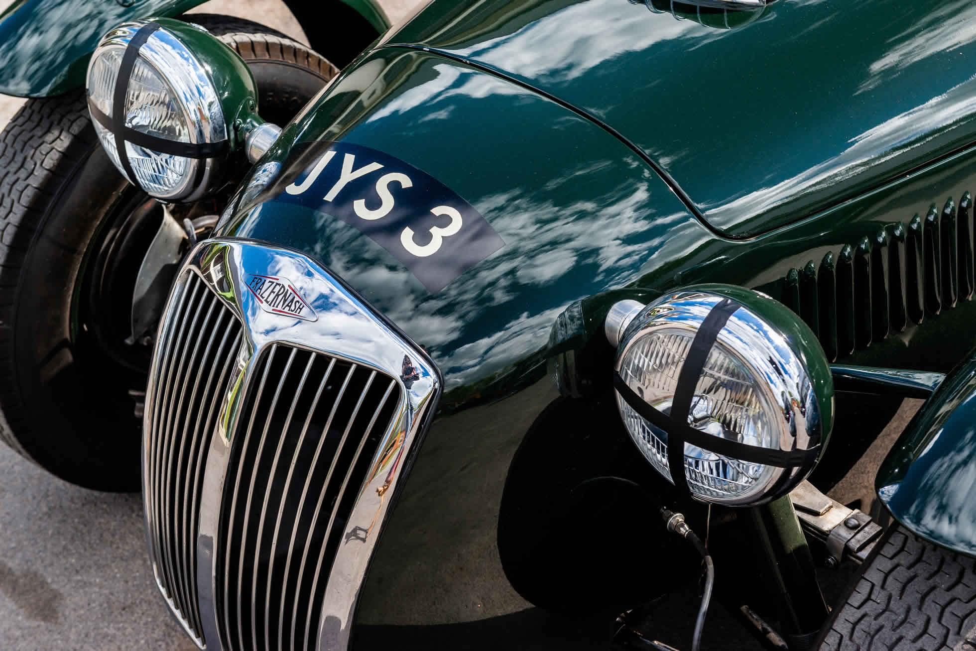 For sale 1951 Frazer Nash Le Mans Replica Mk 1, Sports Purpose Bicester Heritage, front