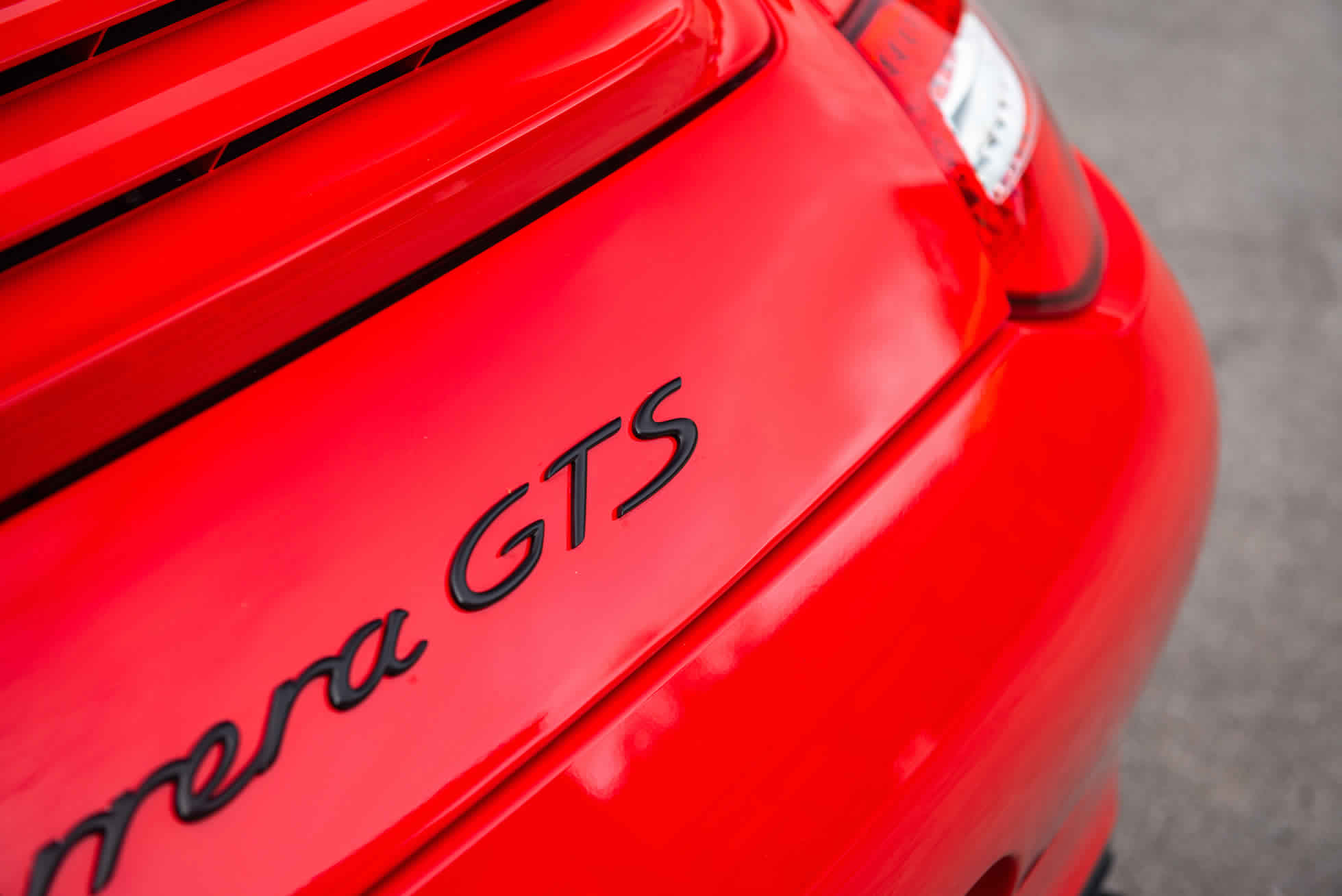 Rear badging 2011 Porsche 911 Carrera GTS For Sale at Sports Purpose, Bicester Heriatge