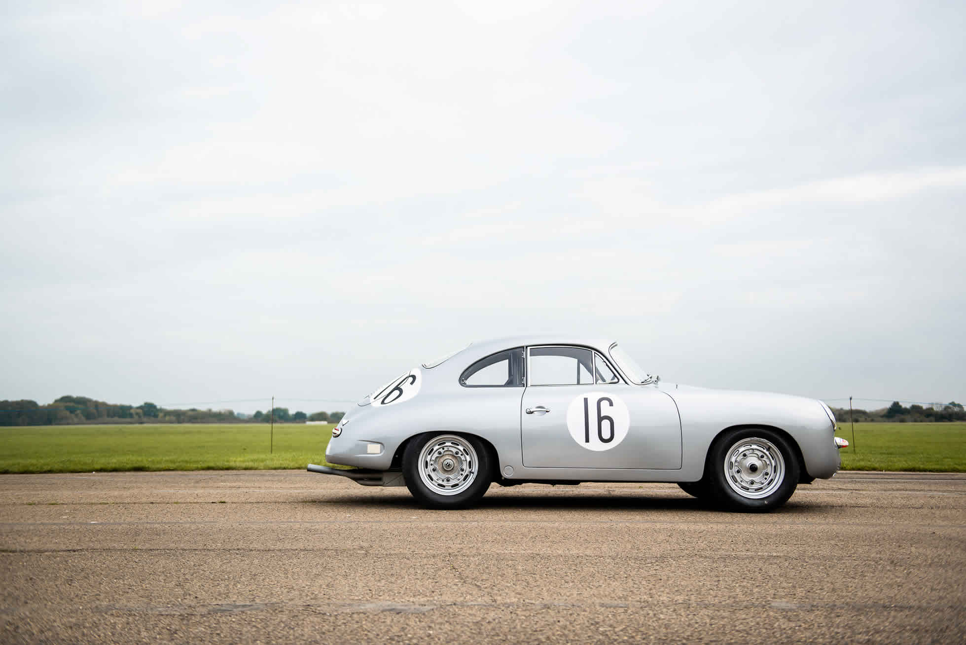 1961 Porsche 356B Carrera GT. For sale at Sports Purpose, Bicester Heritage, Oxon - side view