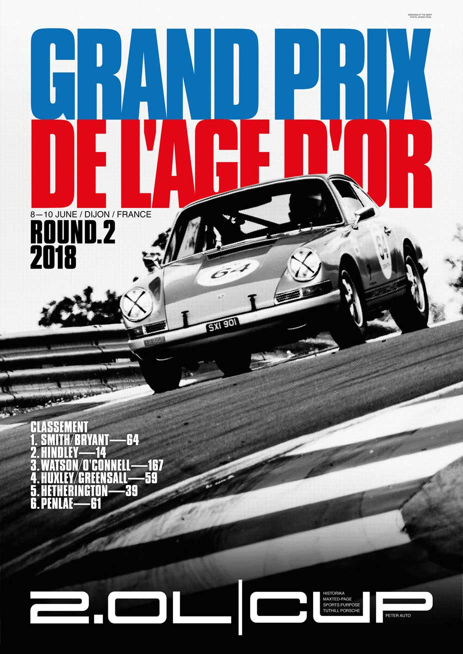2018 2-Litre Cup Round 2 Dijon Poster