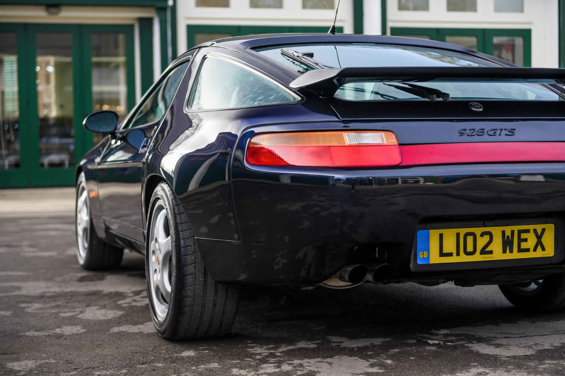 For Sale, 1992 Porsche 928 GTS, Sports Purpose Porsche Specialists, rear quarter view