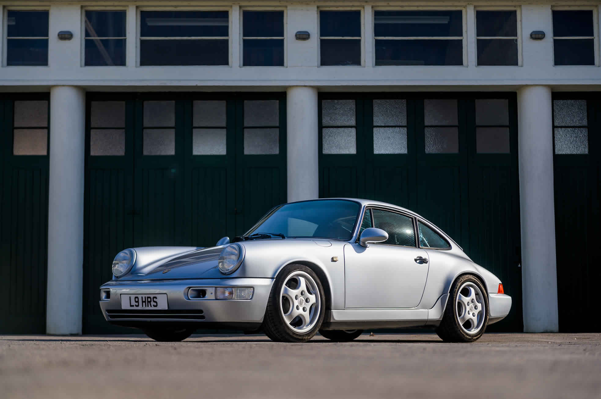 1992 Porsche 964 RS (RHD), for Sale at Sports Purpose, Bicester Heritage, Oxon - front quarter