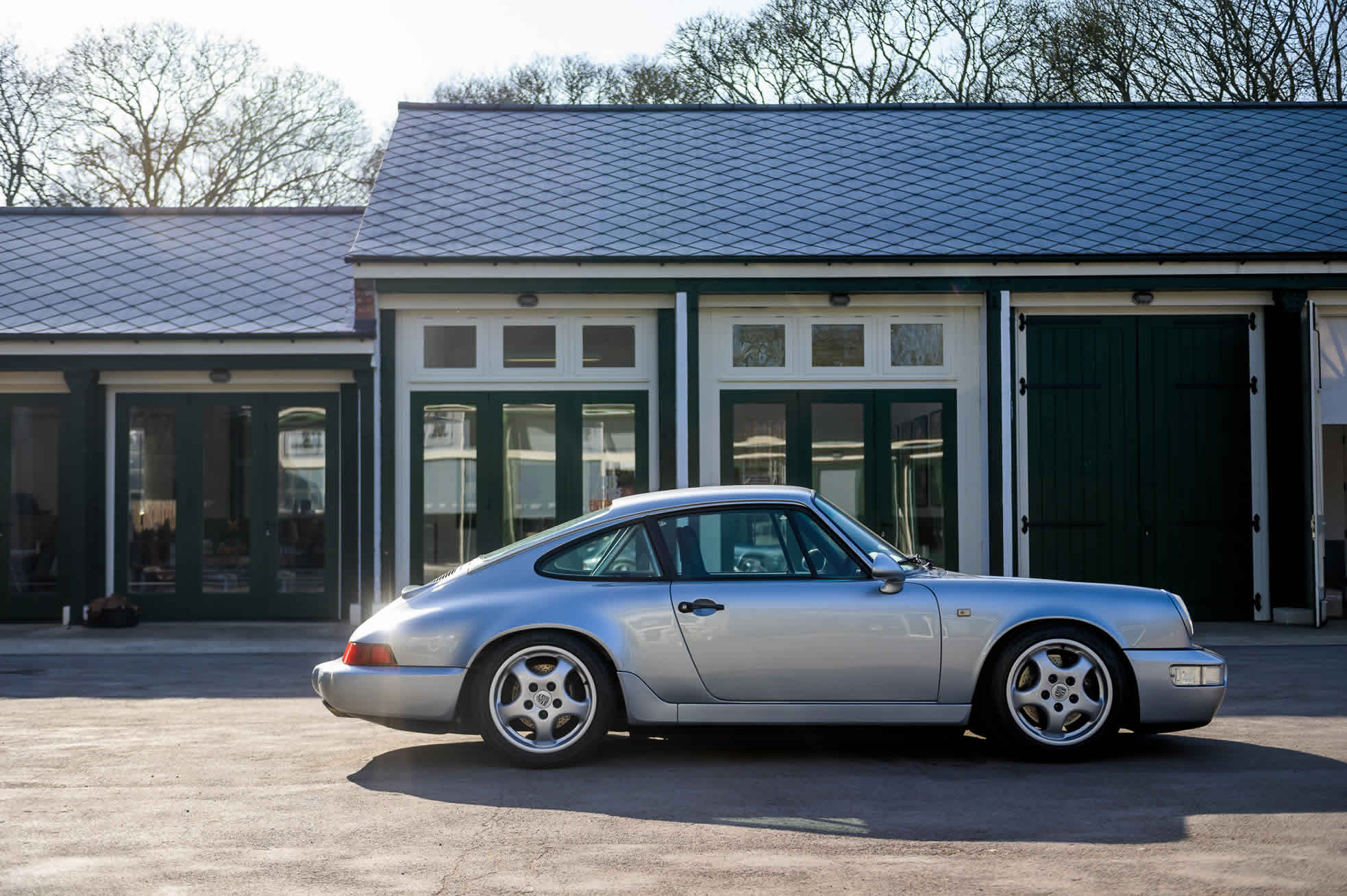 1992 Porsche 964 RS (RHD), for Sale at Sports Purpose, Bicester Heritage, Oxon - side view