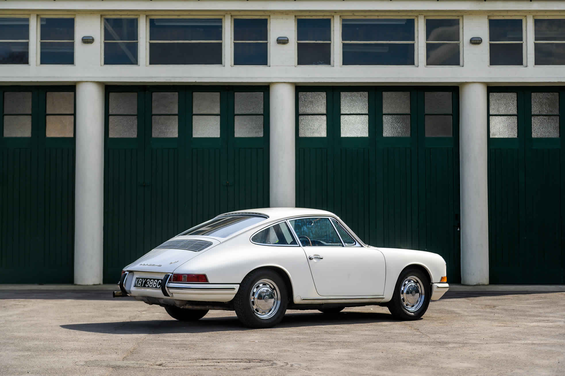 For Sale, 1965 Porsche 911, sports purpose rear quarter view