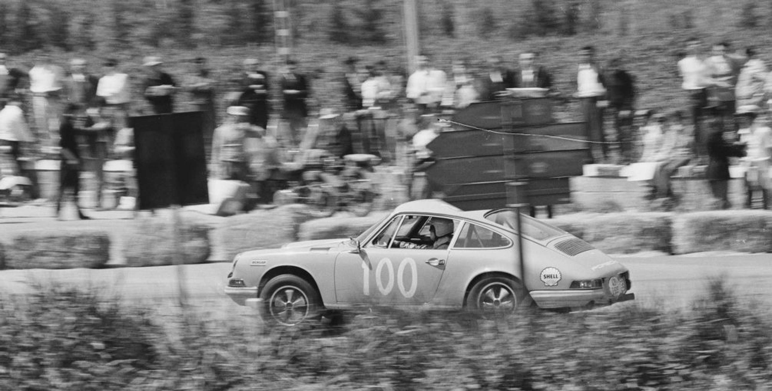Rob Mackie driving a 911T at the Targa Florio in 1969.